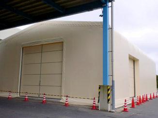 飼料保管用テント倉庫